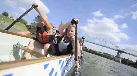 Dragon Boat Race Teams Practice