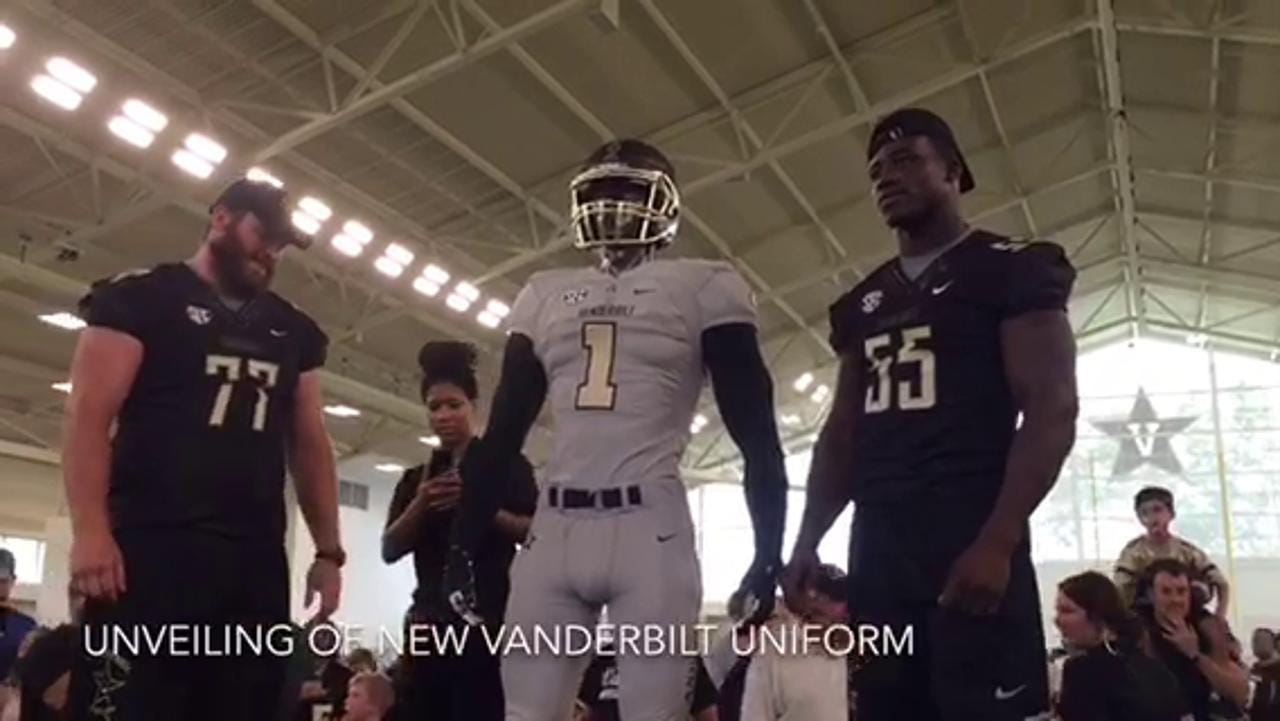Vanderbilt unveils new football uniform 9456b0655