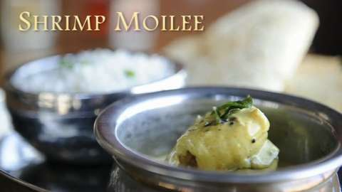 Shrimp Moilee prepared by chef Maneet Chauhan