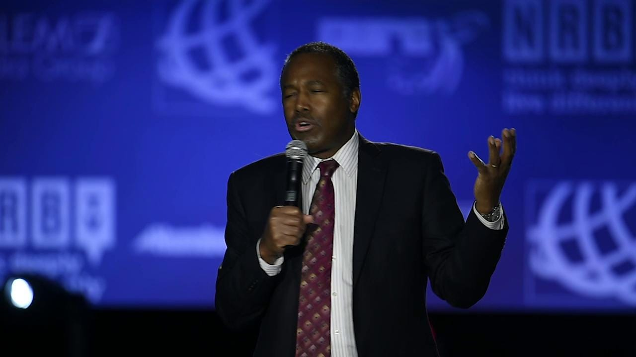 Ben Carson speaks at the NRB Convention