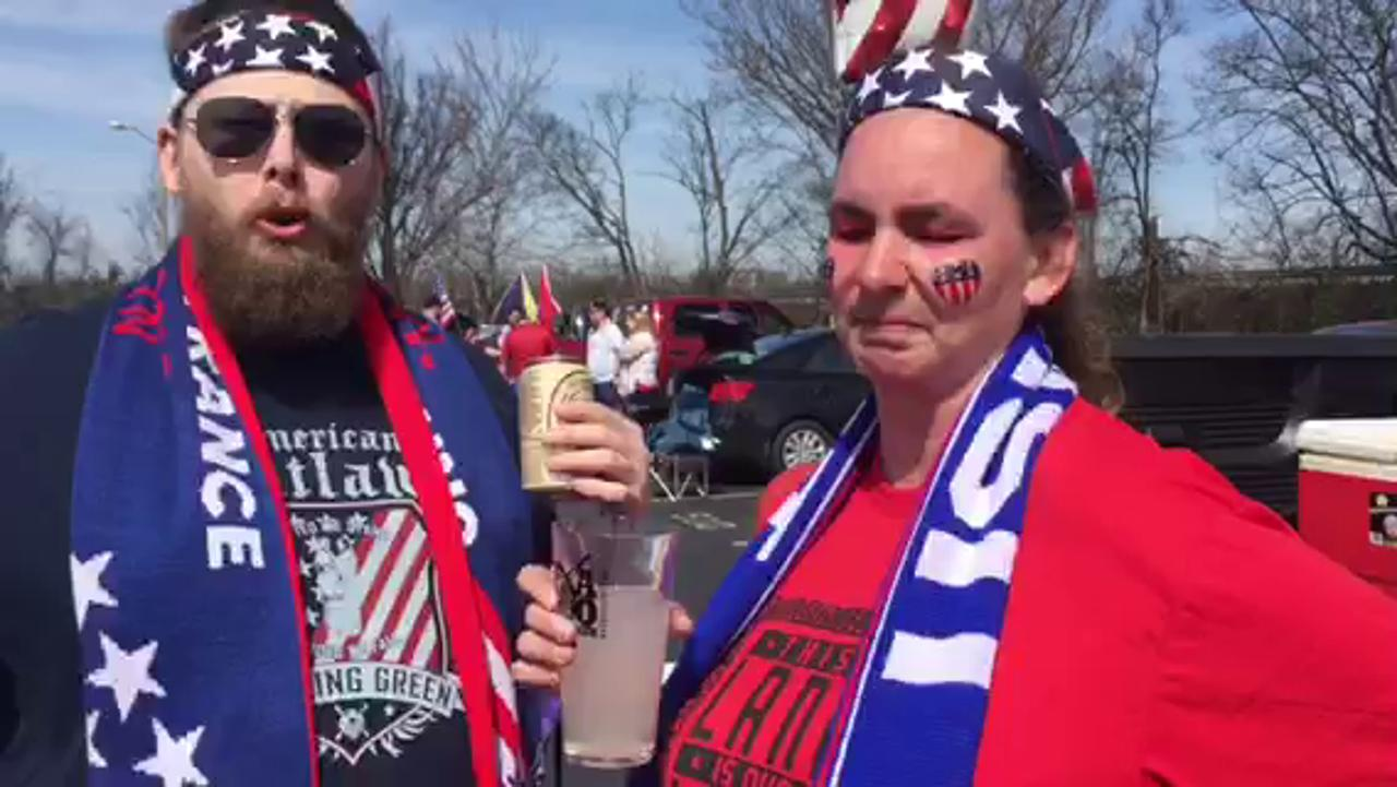 Fans tailgate ahead of U.S. women's soccer  game at Nissan Stadium