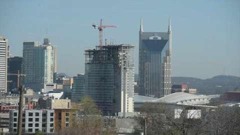 Skyscraper crane operator's view of Nashville