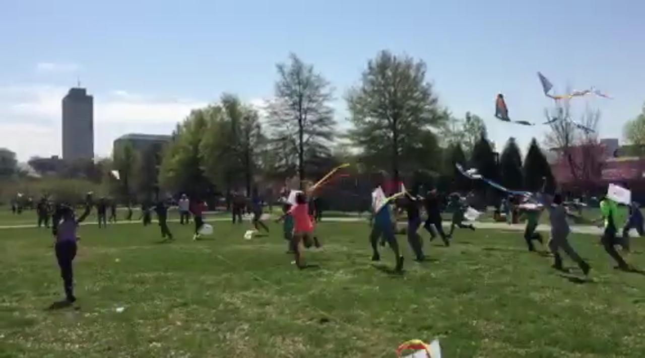 Kids and Kites at Nashville's Bicentennial Park