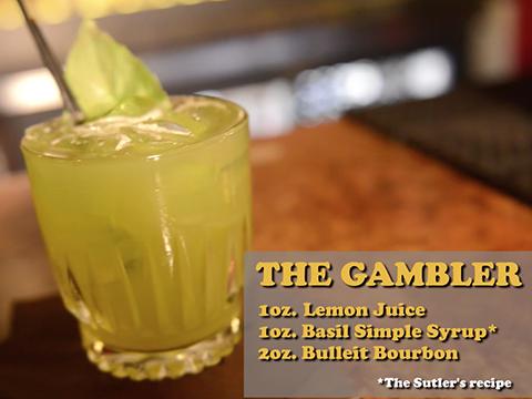 Sutler bartender bets on specialty drink The Gambler
