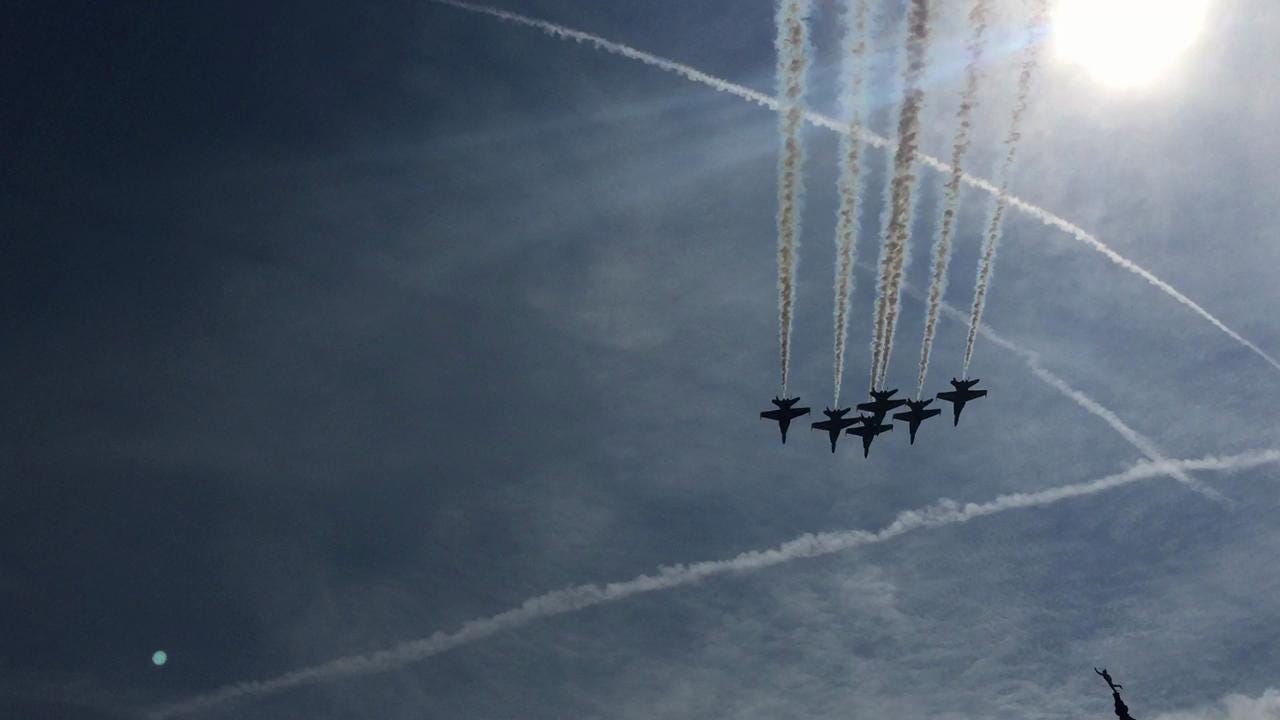 Watch the Blue Angels fly over downtown Nashville