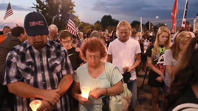 Smyrna residents offer support to Blue Angel family during vigil