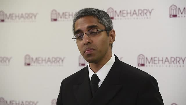 Surgeon General Dr. Vivek Murthy speaking about opioids