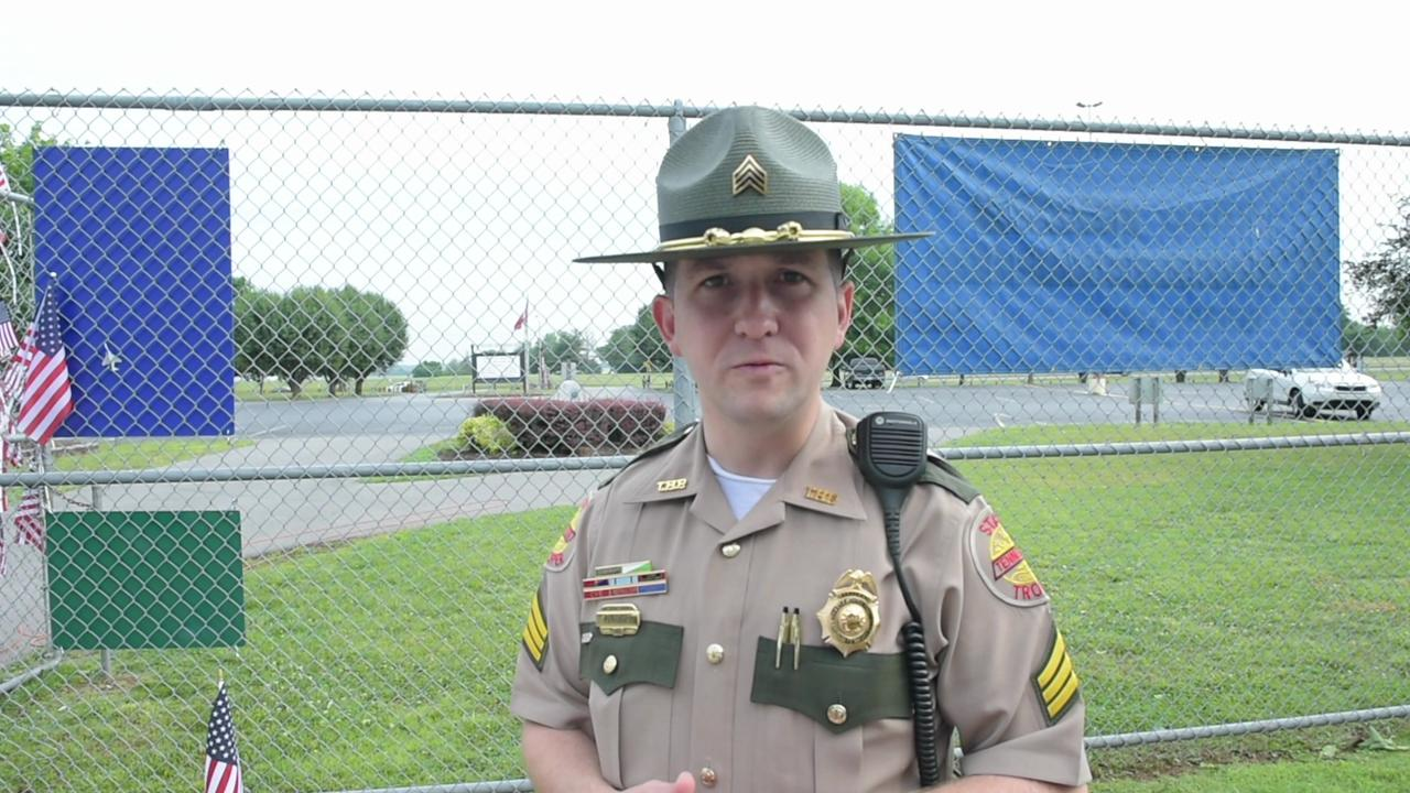 THP officers helping secure Blue Angel crash site