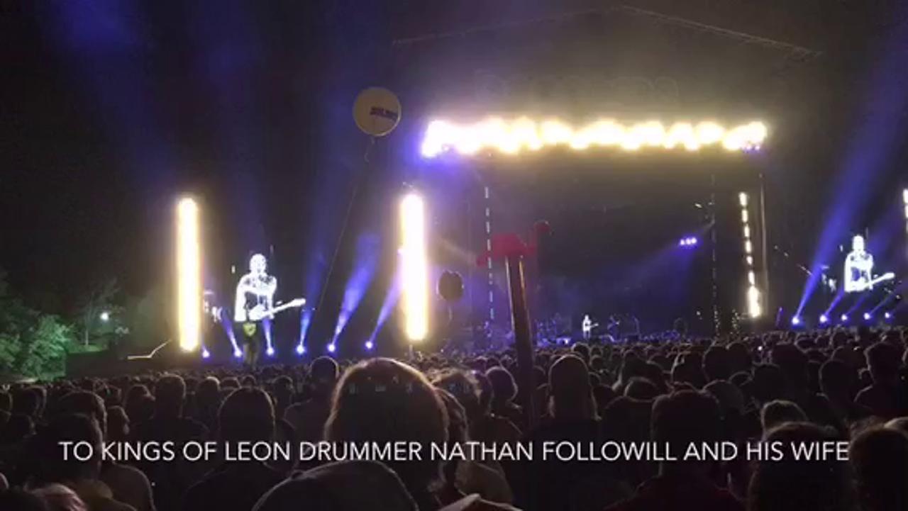 Pearl Jam celebrates Kings of Leon's Bonnaroo love