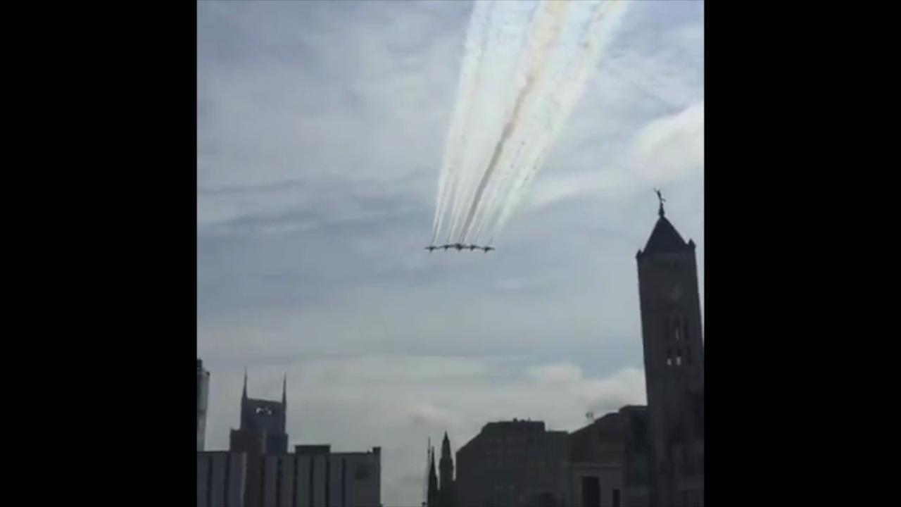 Blue Angels fly over Nashville