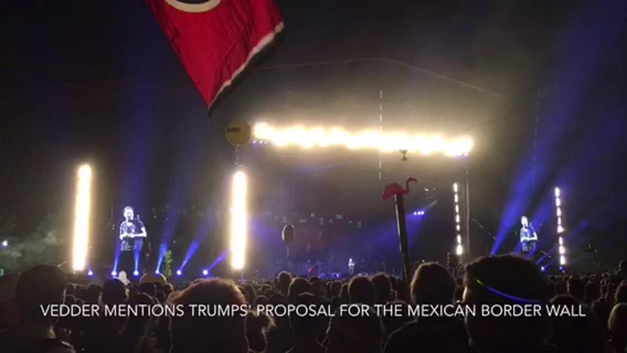 Pearl Jam bashes Trump at Bonnaroo