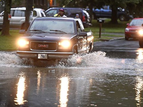 Big summer storm hits Middle Tennessee area