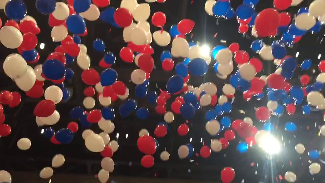 Republicans celebrate Trump nomination with balloon drop