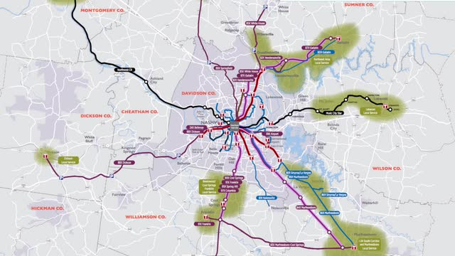 Metro recommends 6 billion transit plan for Nashville region
