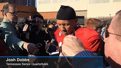 Tennessee quarterback Josh Dobbs on return from spring break