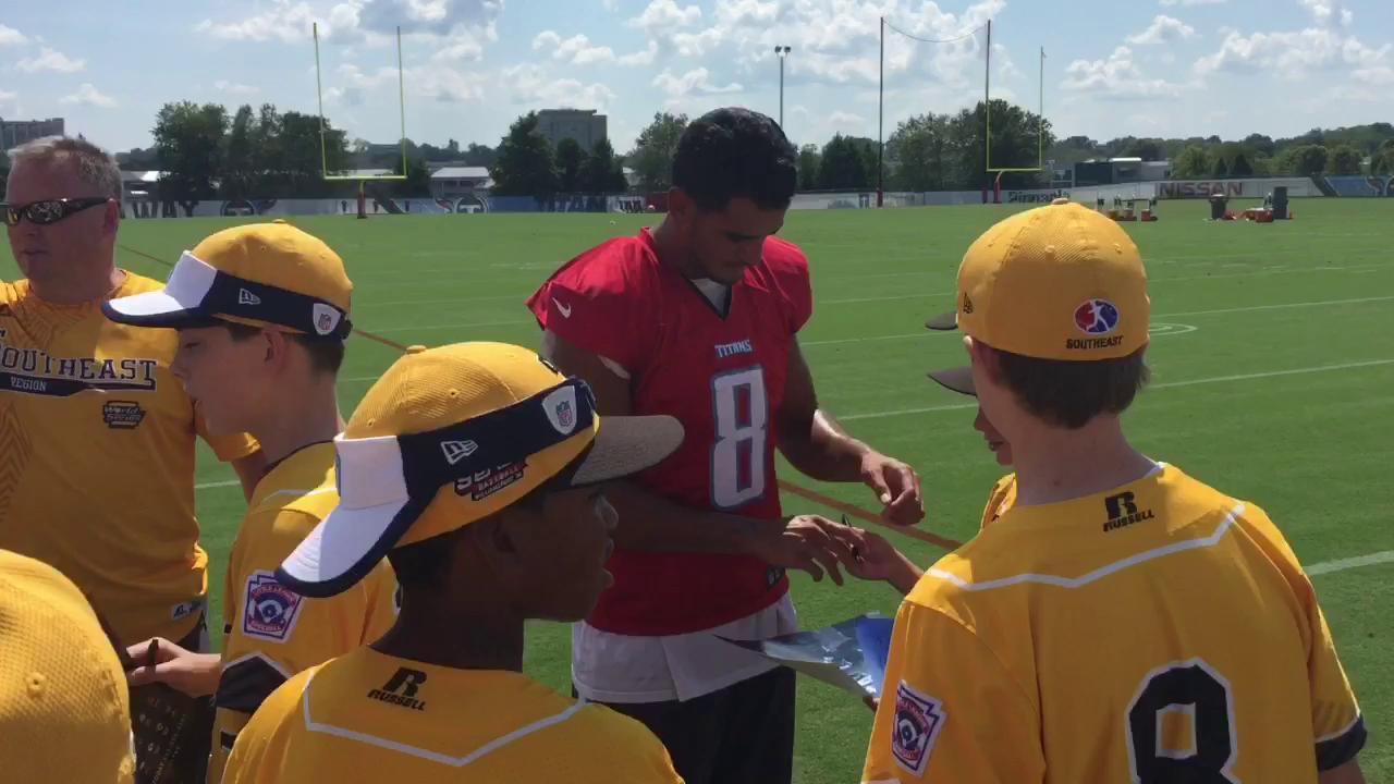 Titans meet Goodlettsville Little League team