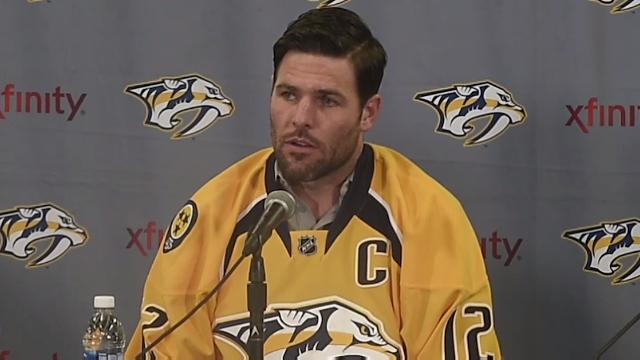 brand new 06dc3 d6972 Mike Fisher named captain of the Predators