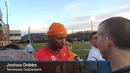 Joshua Dobbs on the first day of spring practice