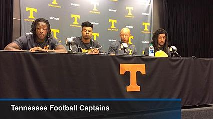 Tennessee football captains discuss Orange and White Game
