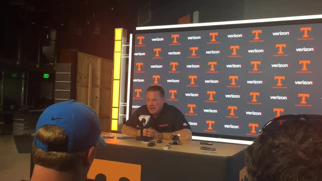 Butch Jones gives an update on the status of Tennessee running back Jalen Hurd