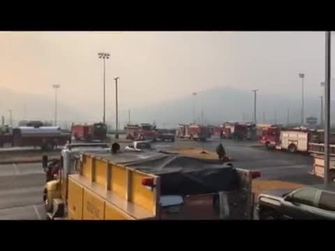 First responders assembled for Sevier County wildfire response