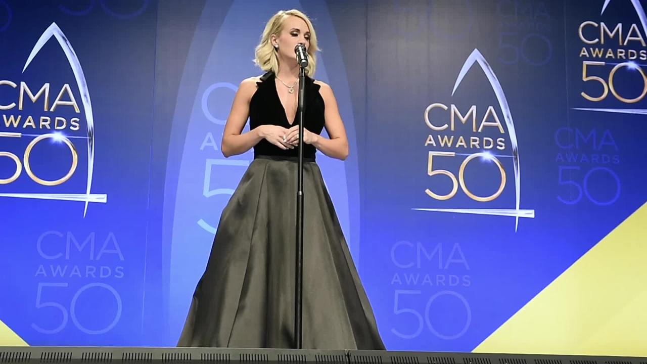 2016 CMA: Carrie Underwood on her CMA performance