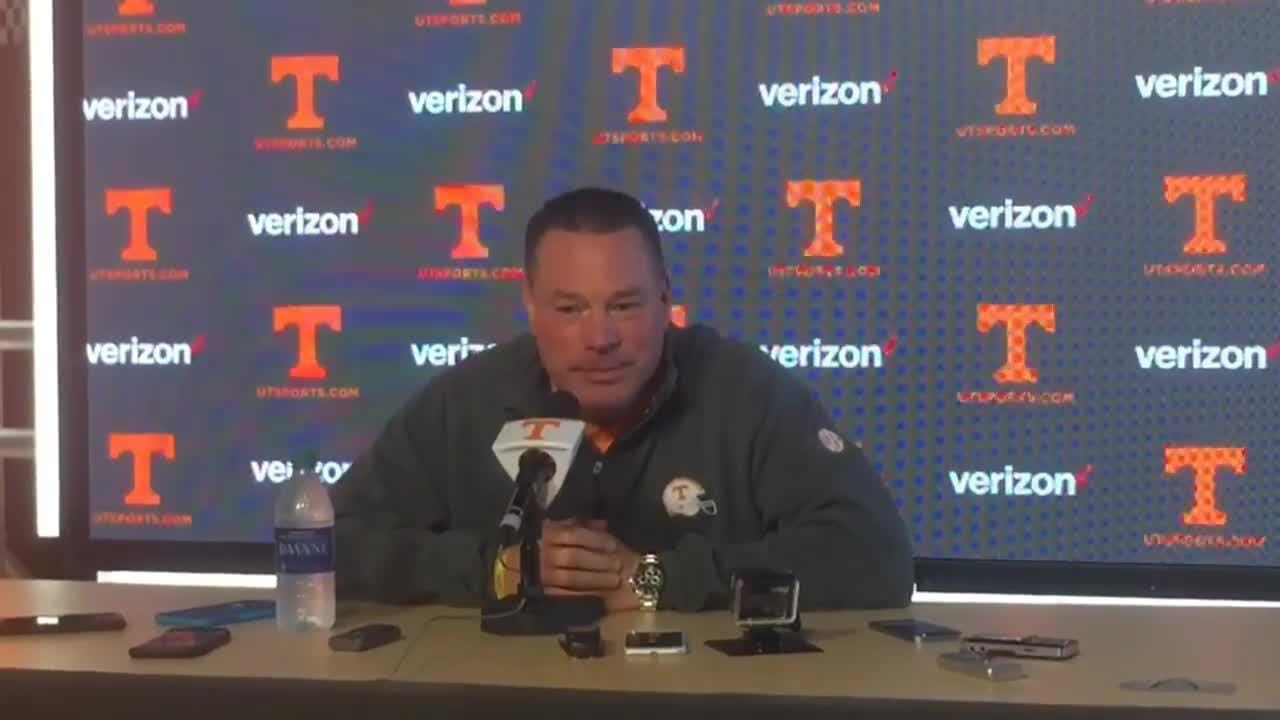 Tennessee coach Butch Jones discusses the college football playoff rankings