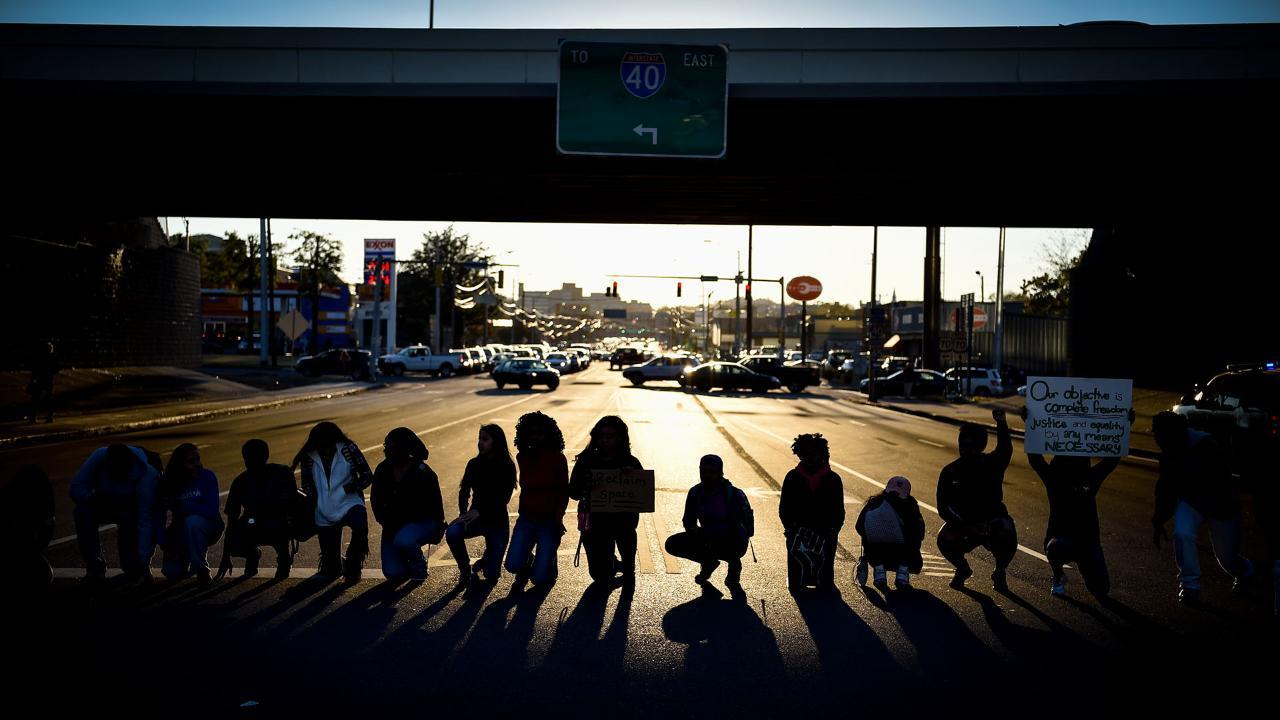 Nashville students protest Donald Trump presidency