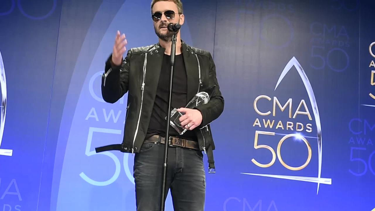 Eric Church accepts CMA Album of the Year award