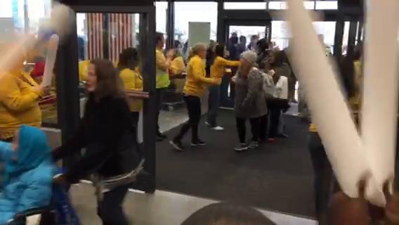 The first customers enter the Memphis Ikea