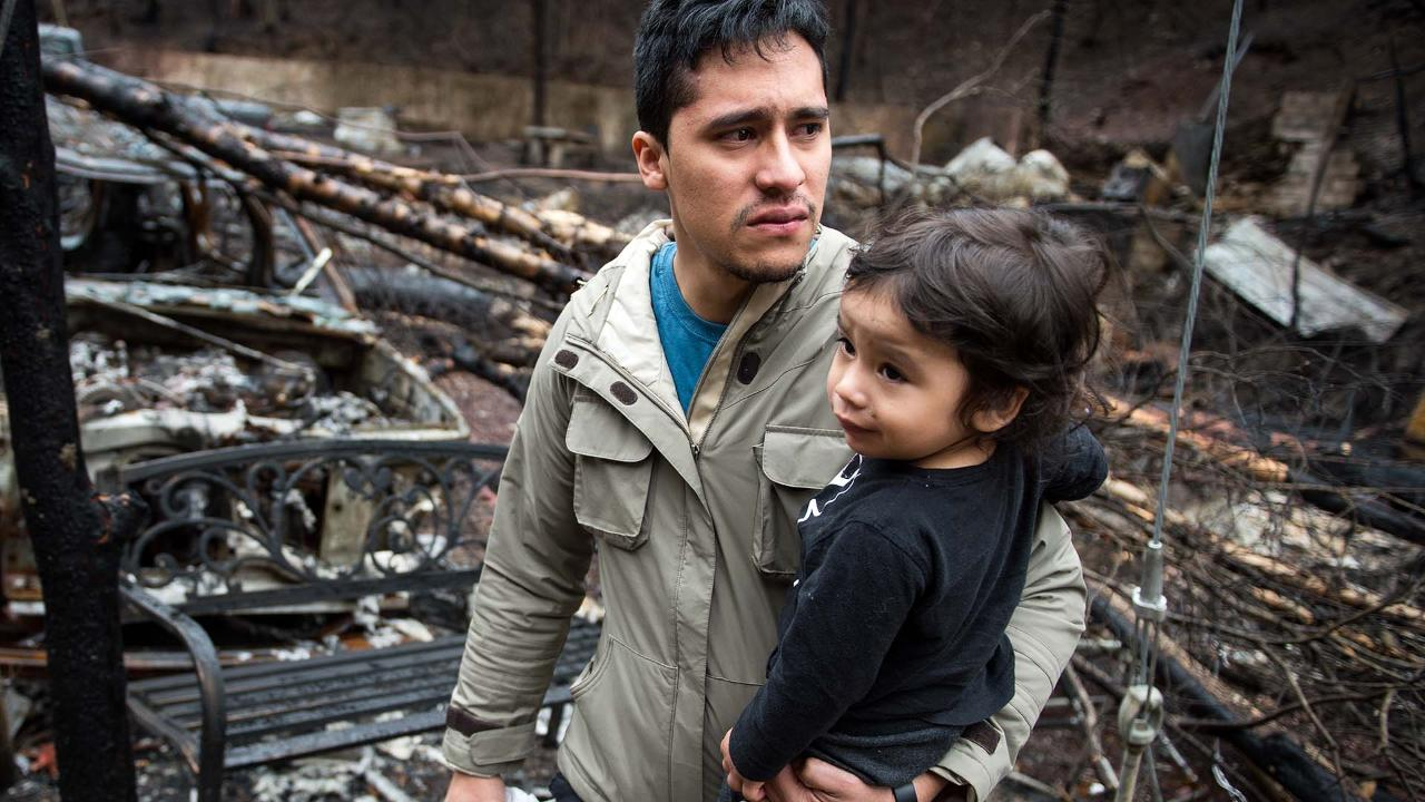 Allan Rivera Views The Remains Of His Home In Gatlinburg