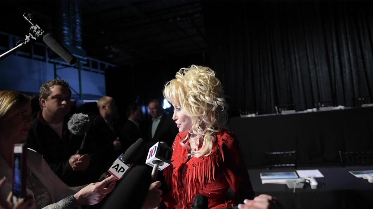 Dolly Parton talks about Smoky Mountains before telethon