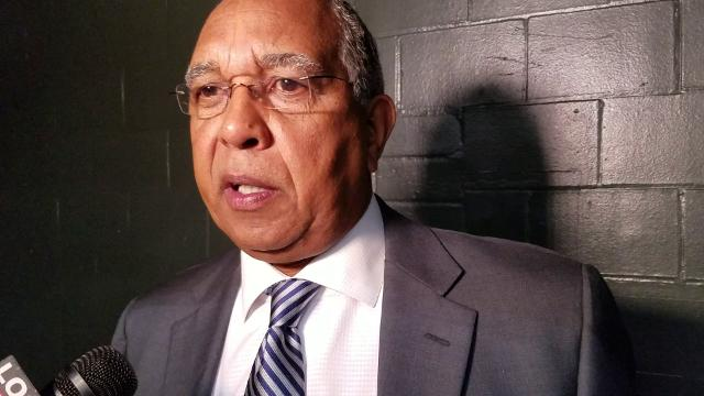 Tubby Smith talks after Tigers' win at Tulane