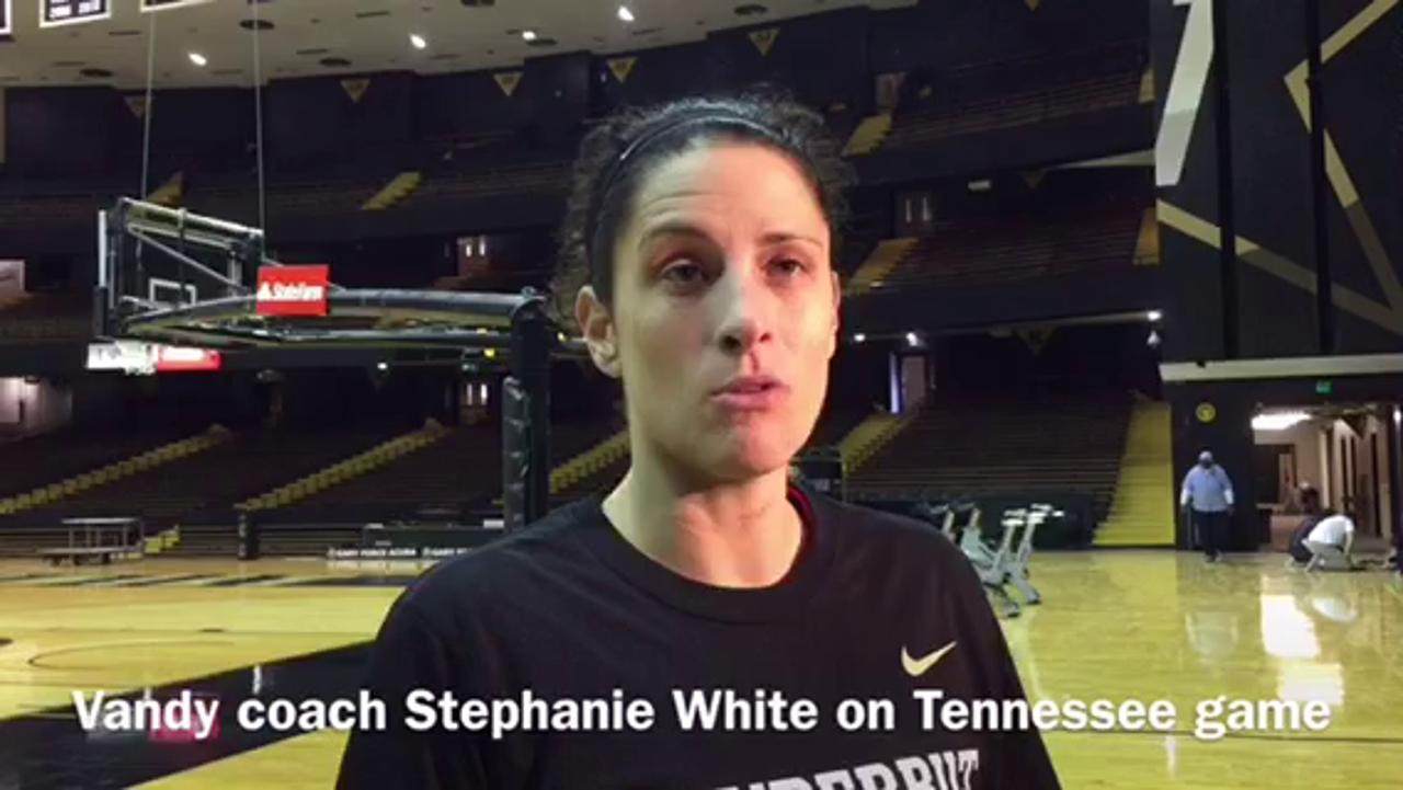 Vanderbilt's Stephanie White sets up Tennessee game