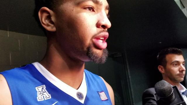 Dedric Lawson talks after Tigers' win at Tulane