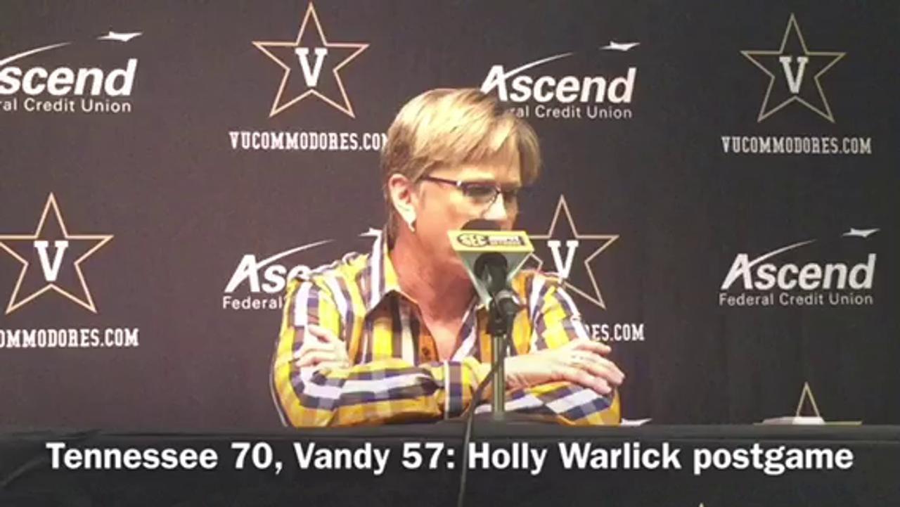 Lady Vols beat Vandy: Holly Warlick postgame