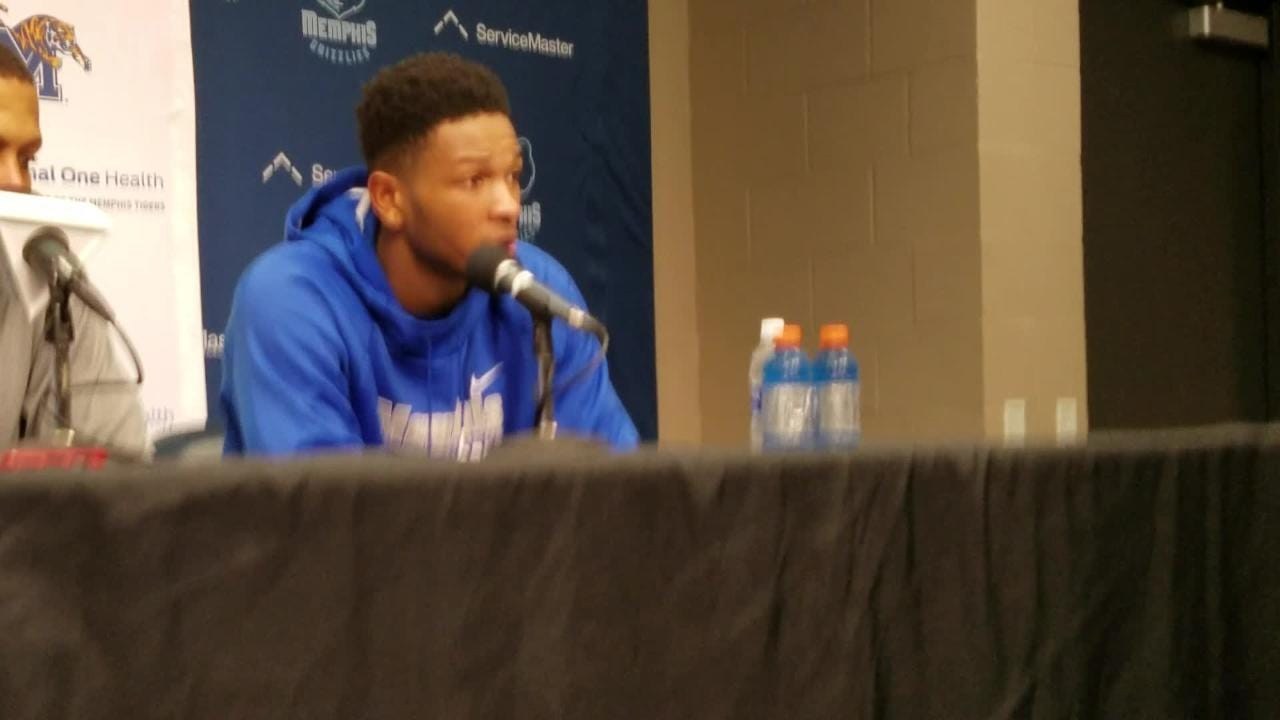 Markel Crawford talks after Memphis beats South Florida