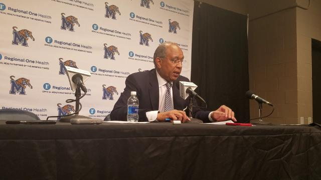 Tubby Smith talks after ECU win