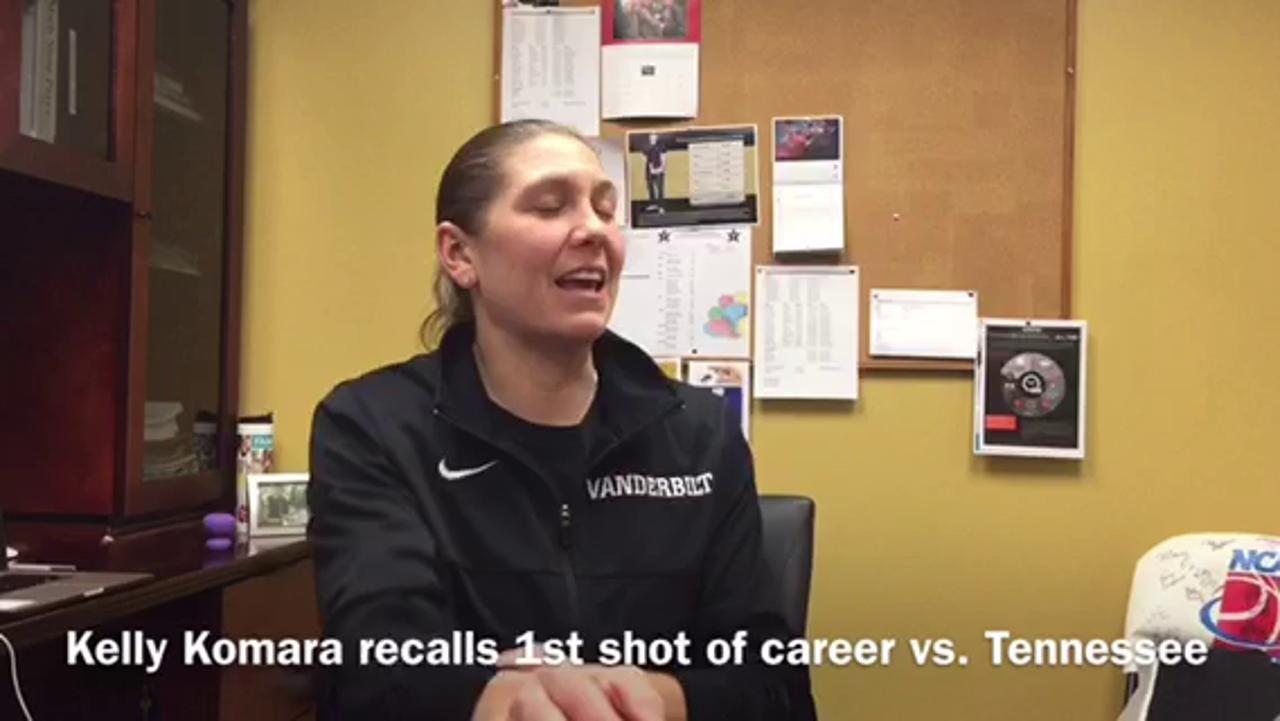 Vanderbilt's Kelly Komara recalls 1st shot vs. Tennessee
