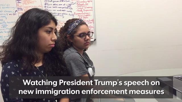 Young DACA recipients react to President Trump's immigration enforcement speech