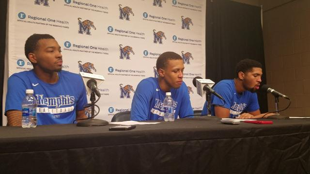 Memphis players discuss ECU win