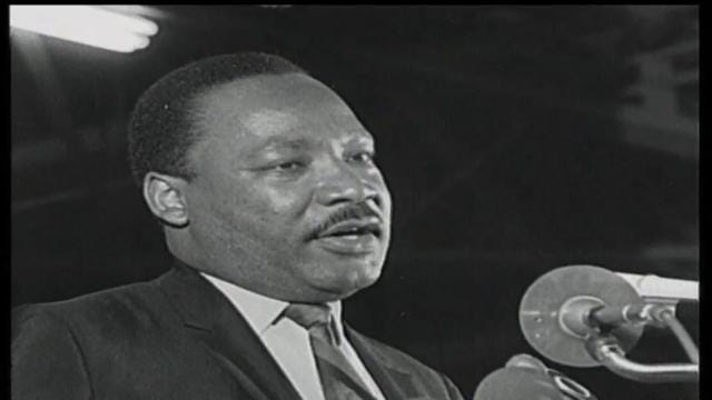 Martin Luther King's 'Mountaintop' speech footage