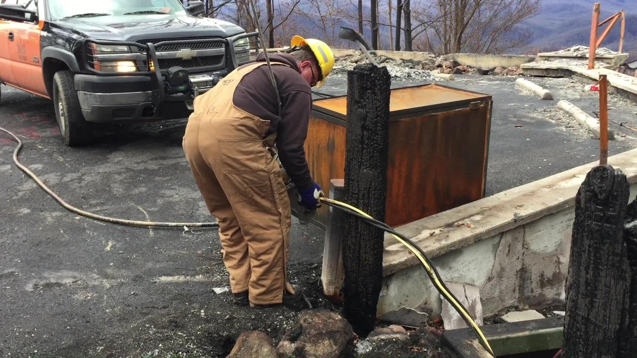 Sevier County Electric continues repairing Gatlinburg power grid