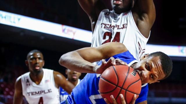 Memphis has momentum halted at Temple.