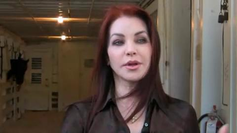 Priscilla Presley provides a tour of the horse stables at Graceland