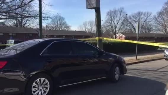Scene after police-involved shooting in Nashville at Cayce Homes