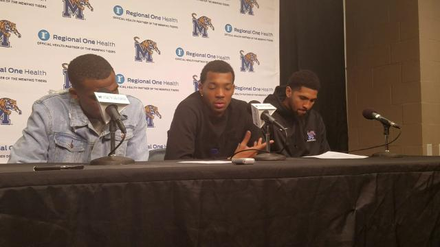 Memphis players discuss the end of Houston game