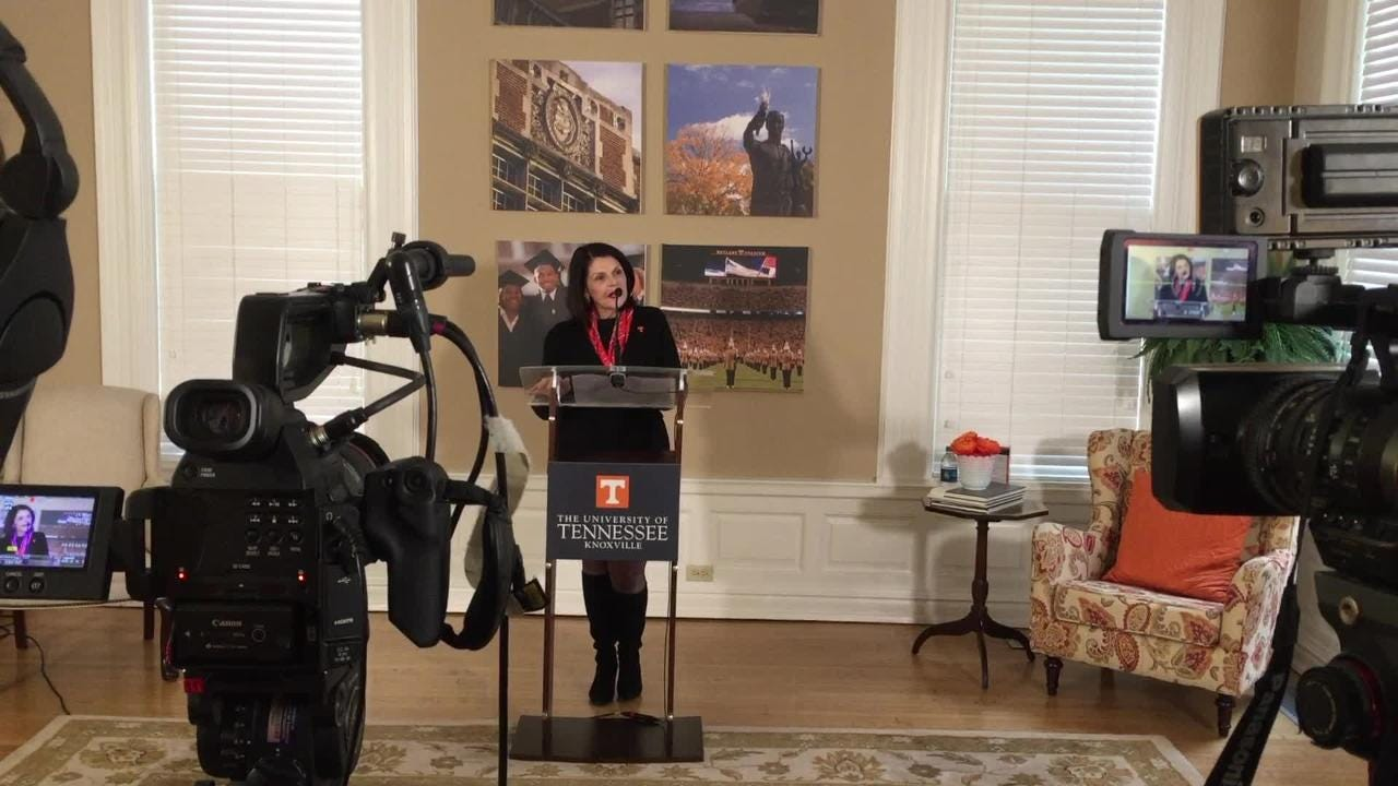 Beverly Davenport, UTK chancellor, speaking on first day at work