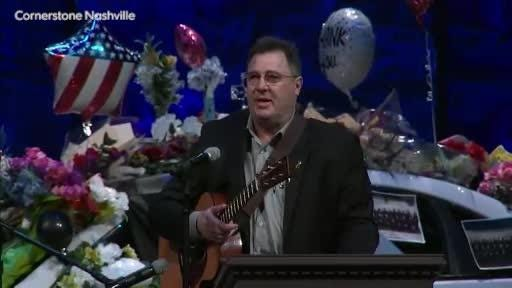 Vince Gill's emotional statement on daughter at Officer Eric Mumaw memorial