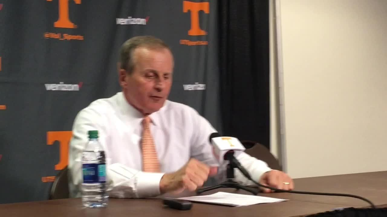 Rick Barnes is proud of Tennessee's rally